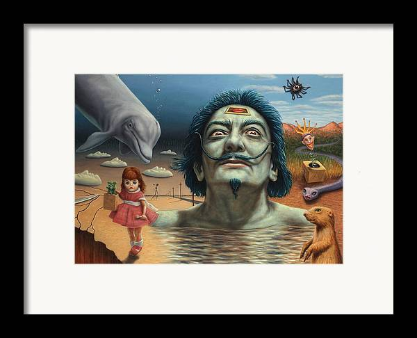 Dali Framed Print featuring the painting Dolly In Dali-land by James W Johnson