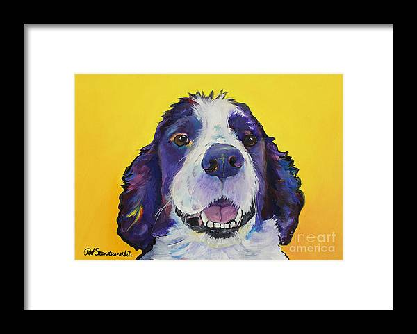 English Springer Spaniel Framed Print featuring the painting Dolly by Pat Saunders-White