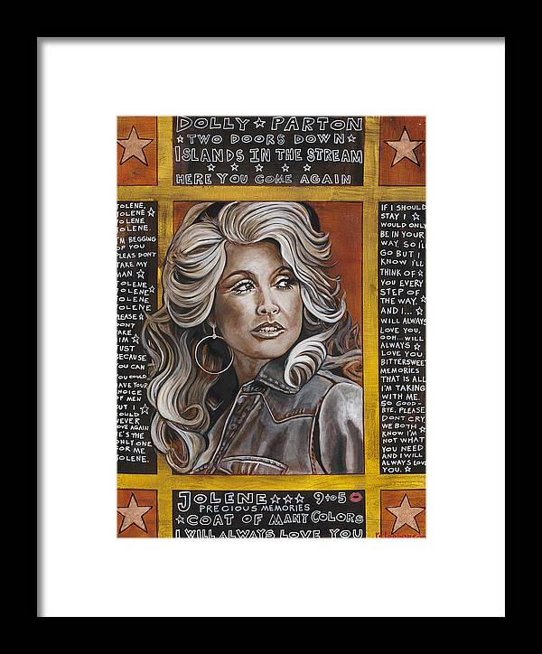 Dolly Parton Framed Print featuring the painting Dolly by Ray Stephenson