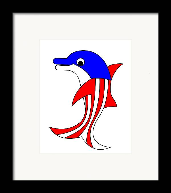 Dolphy Framed Print featuring the digital art Dolphy The American Dolphin by Asbjorn Lonvig