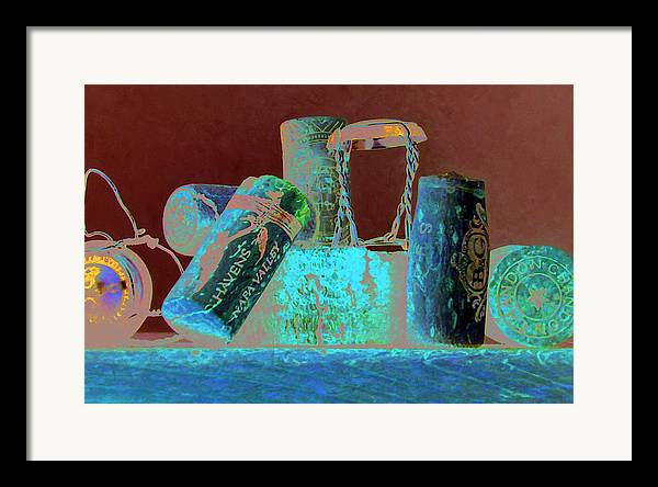 Wine Framed Print featuring the painting Domain Chandon by Randy Ford