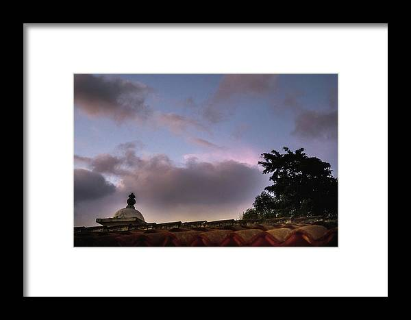 Tile Roof Framed Print featuring the photograph Dome And Clouds - Guatemala Iv by Totto Ponce