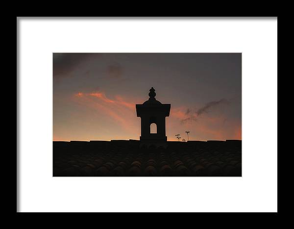Tile Roof Framed Print featuring the photograph Dome And Sunset - Antigua Guatemala by Totto Ponce