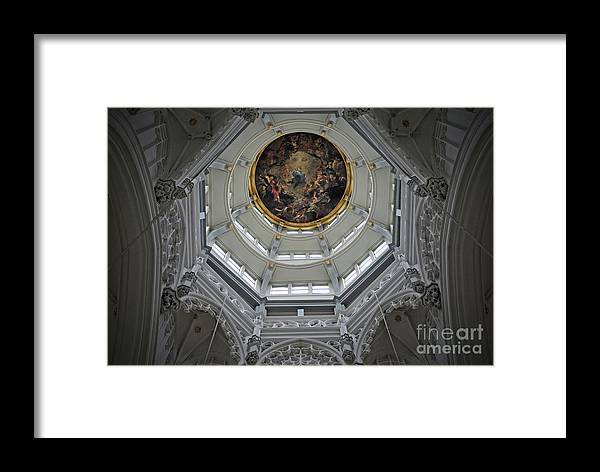 Christian Framed Print featuring the photograph Dome Of Cathedral Of Our Lady Antwerp by Jost Houk