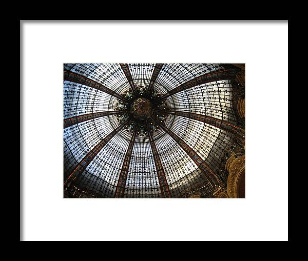 Paris Framed Print featuring the photograph Dome Of The Galleries Lafayette by Victoria Heryet