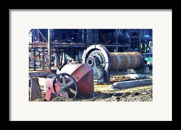 Photography Framed Print featuring the photograph Domfer Deconstruction 2 by Reb Frost