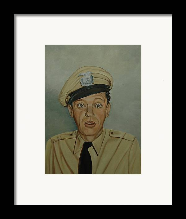 Barney Framed Print featuring the painting Don Knotts As Barney Fife by Tresa Crain