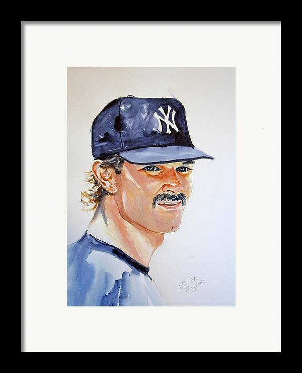 Mattingly Framed Print featuring the painting Don Mattingly by Brian Degnon