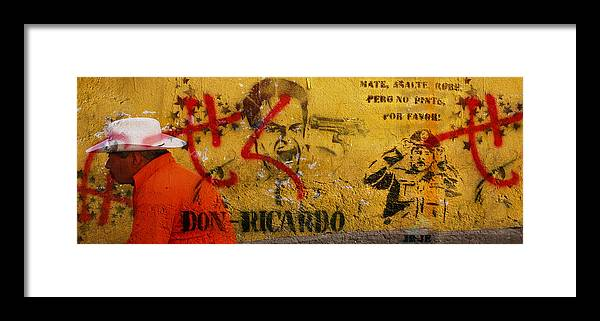 Grafitti Framed Print featuring the photograph Don-ricardo by Skip Hunt