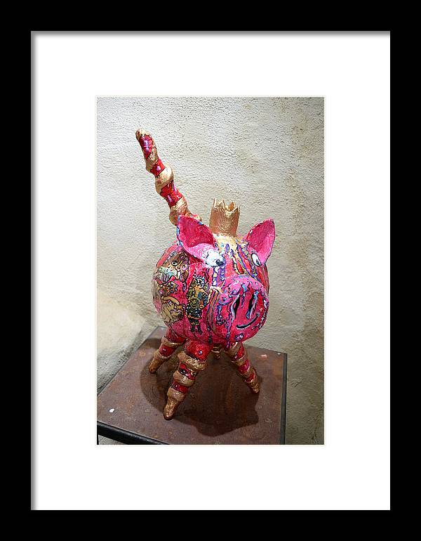 Atrs Singuliers Sculpture Collage Framed Print featuring the sculpture Don Rodrigo De Borgia by Kitoo Wikitoo Calaudi