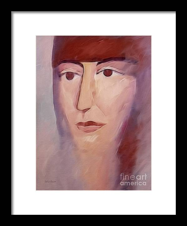 Woman Painting Framed Print featuring the painting Donna by Lutz Baar
