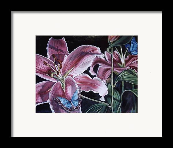 Floral Framed Print featuring the painting Donna's Flowers by Diann Baggett