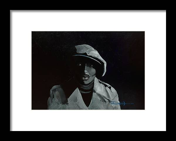 Portrait Framed Print featuring the painting Donnie Hathaway by Dana Newman