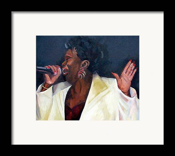 Portrait Framed Print featuring the painting Don't Boss Me Baby by Jackie Merritt