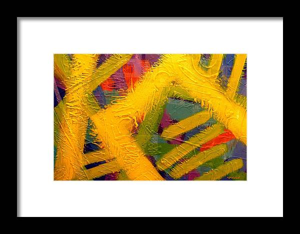 Abstract Framed Print featuring the painting Don't Dream About It Do It by John Nolan