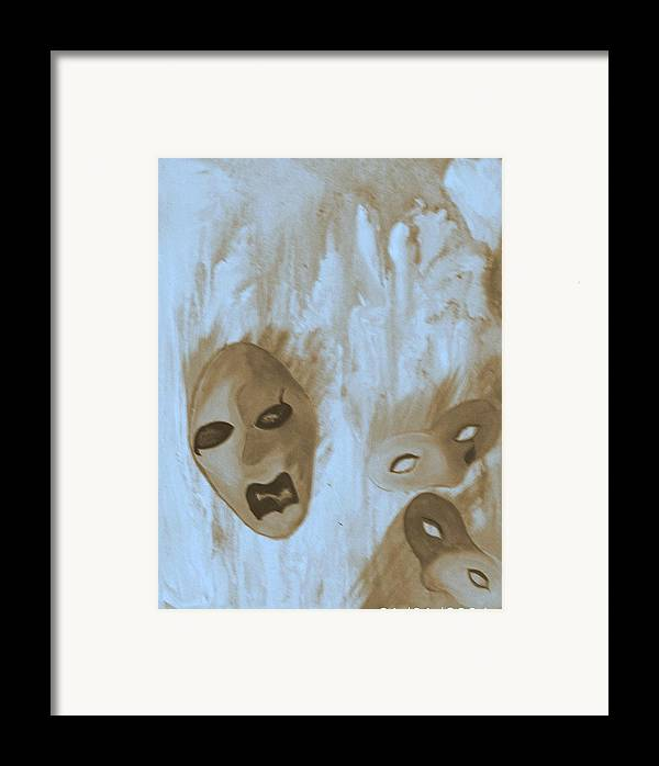 Abstract Framed Print featuring the print Don't Follow by Beverly Baxter