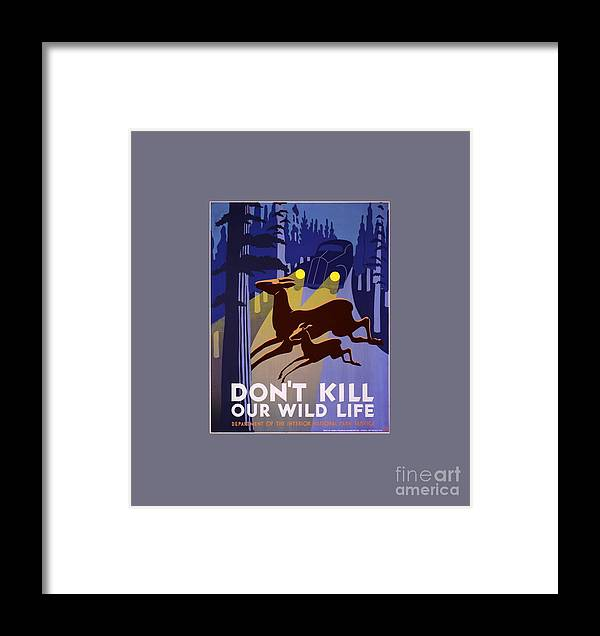 Flag Framed Print featuring the digital art Don't Kill Our Wildlife by Frederick Holiday