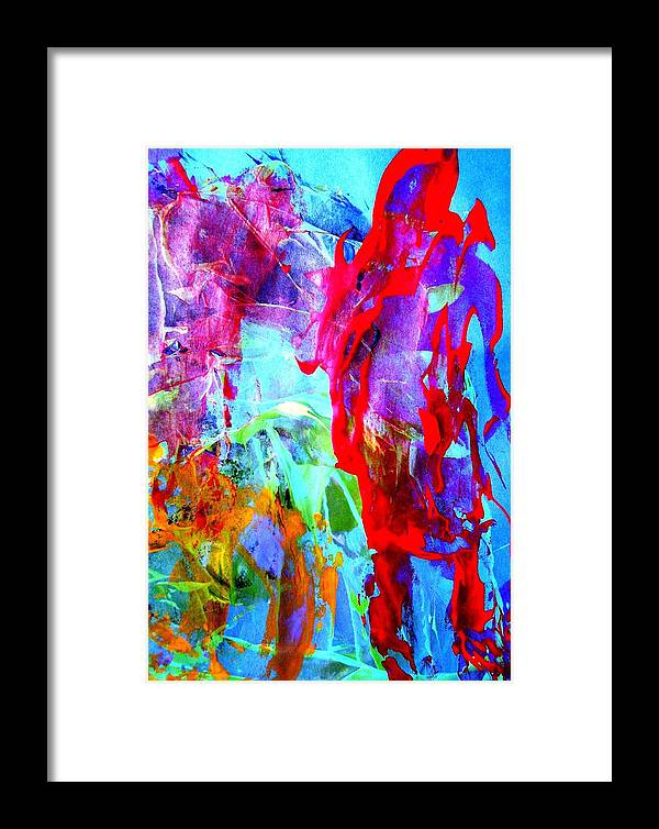 Abstract Framed Print featuring the painting Dont Look Back by Bruce Combs - REACH BEYOND