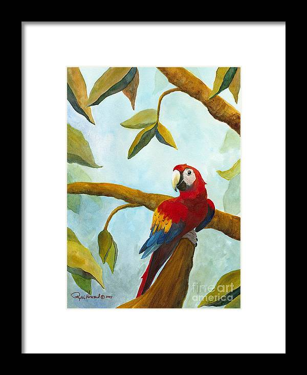 Mccaw Framed Print featuring the painting Dont Worry Be Happy by Phyllis Howard