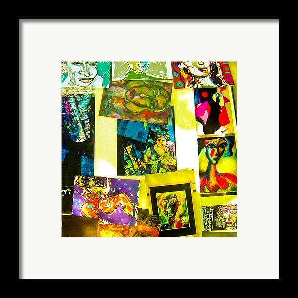Collage Framed Print featuring the painting Doodle by Noredin Morgan