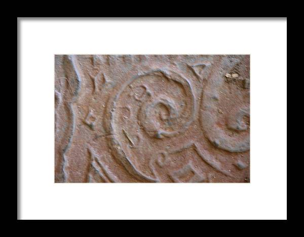 Architectural Ornament Framed Print featuring the relief Doodle Plate by Thor Sigstedt