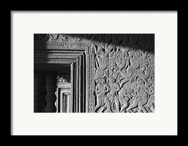 Angkor Wat Framed Print featuring the photograph Door Frame by Marcus Best