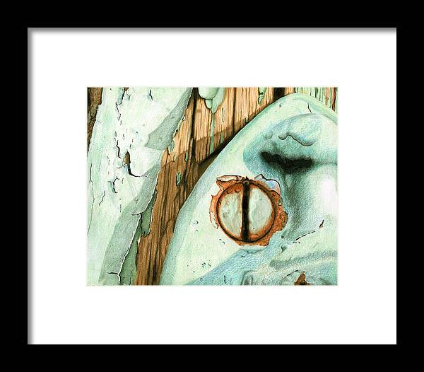 Old Framed Print featuring the mixed media Door Handle by Rob De Vries