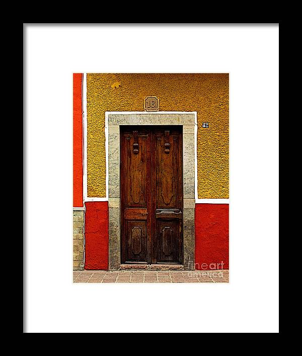Darian Day Framed Print featuring the photograph Door In Abstract by Mexicolors Art Photography