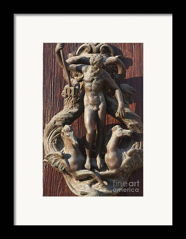 Venice Framed Print featuring the photograph Door Knocker In Venice by Michael Henderson