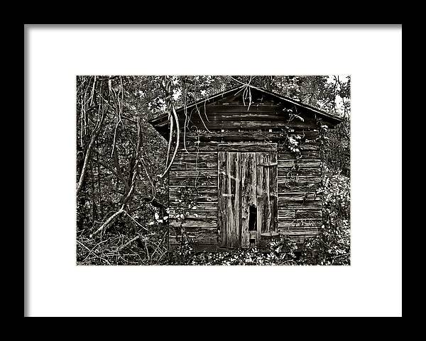 Old Building Framed Print featuring the photograph Door Met Foot by David A Brown