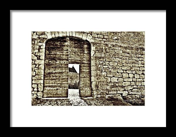 Castle Framed Print featuring the photograph Door To Salvation by Paul Topp