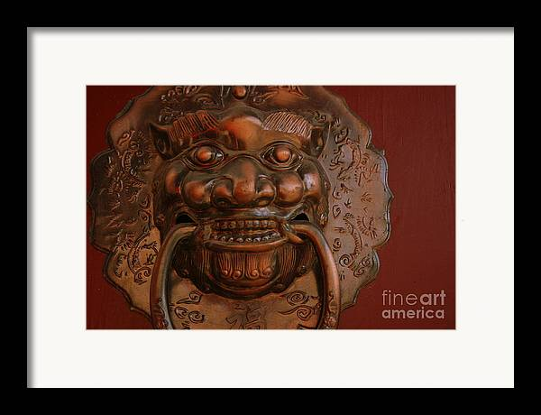 Framed Print featuring the photograph Doorknocker 01 by April Holgate