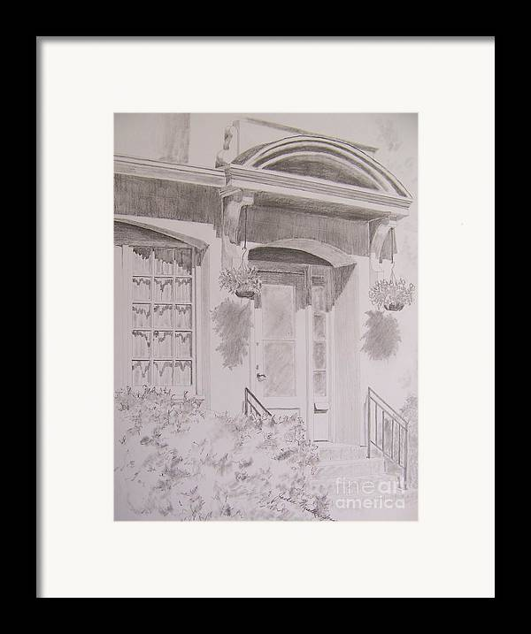Doorway Framed Print featuring the drawing Doorway by Jackie Mueller-Jones