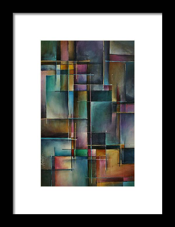 Abstract Framed Print featuring the painting Doorway to... by Michael Lang