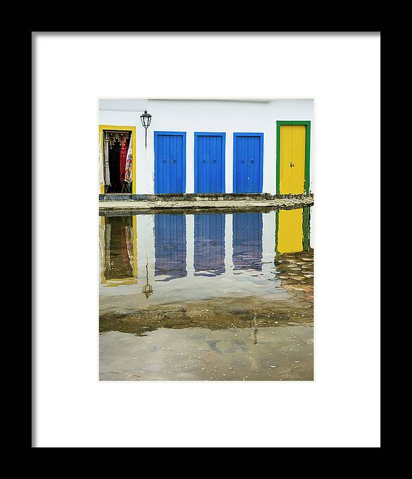 Landscape Framed Print featuring the photograph Doorways In Paraty by Stan Roban