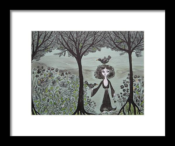 Woods Framed Print featuring the painting Ninas Garden by Sue Wright