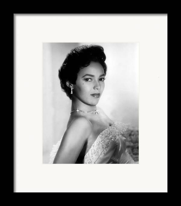 1950s Portraits Framed Print featuring the photograph Dorothy Dandridge, No Date by Everett