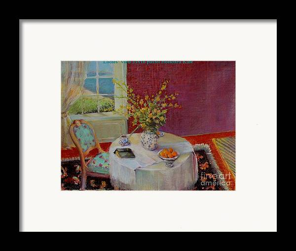 Interior Framed Print featuring the painting Dorothy S View  Copyrighted by Kathleen Hoekstra