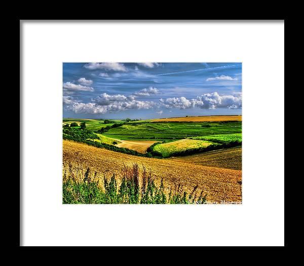 Uk Framed Print featuring the photograph Dorset Farmland by David J Knight