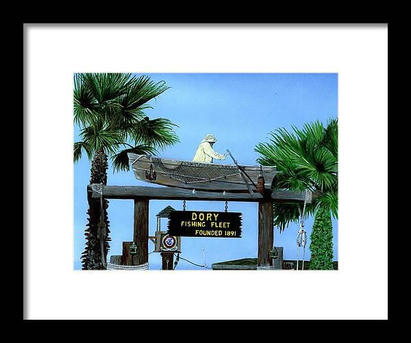 Dorry Fleet Framed Print featuring the painting Dory Fleet by Charles Parks