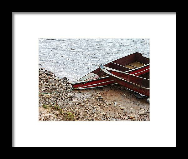 Boats Framed Print featuring the photograph Dos Barcos by Kathy McClure