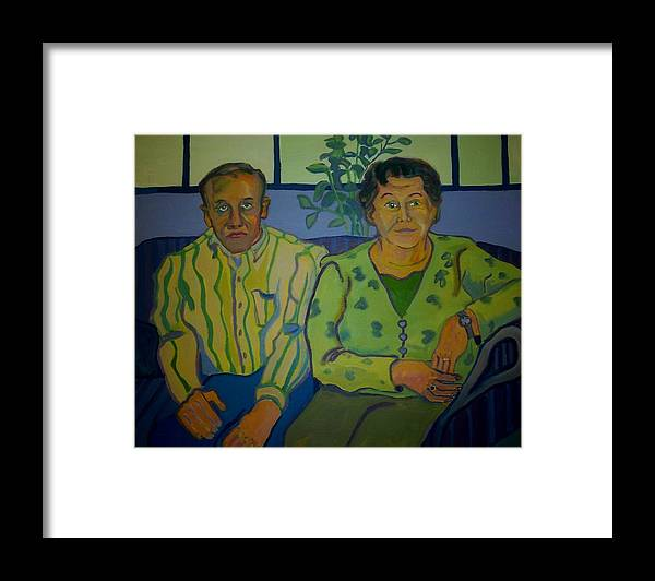 Older Couple Framed Print featuring the painting Dottie And Jerry by Debra Bretton Robinson