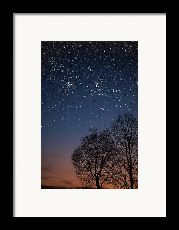 Stars Framed Print featuring the photograph Double Cluster Sunset by Charles Warren
