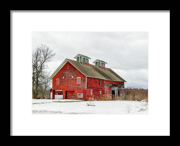 Barn Framed Print featuring the photograph Double Cupola Barn by Rod Best