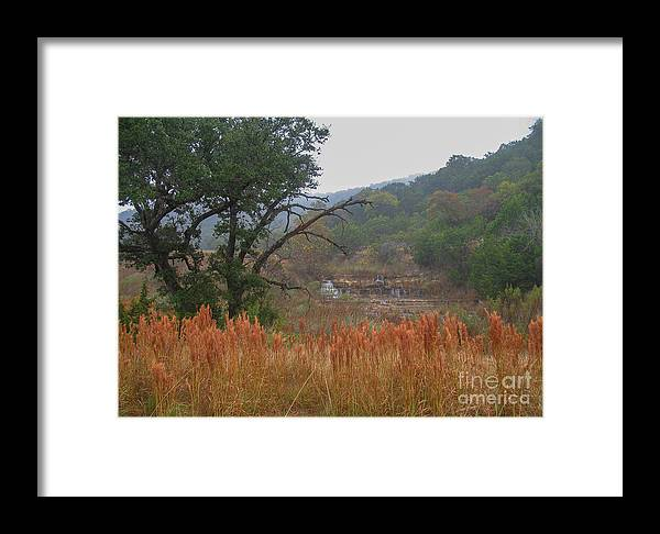 Nature Framed Print featuring the photograph Double D Falls by Barry Bohn