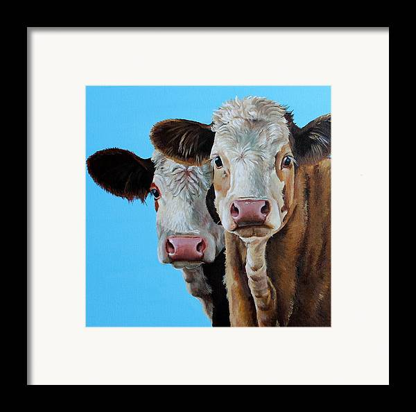 Simmental Framed Print featuring the painting Double Dutch by Laura Carey