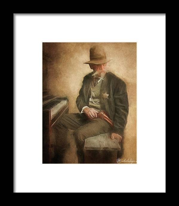 Man Framed Print featuring the digital art Double Duty by Rick Wiles