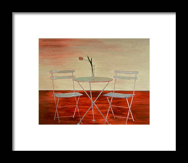 Still Life Framed Print featuring the painting Double Espresso by Oudi Arroni