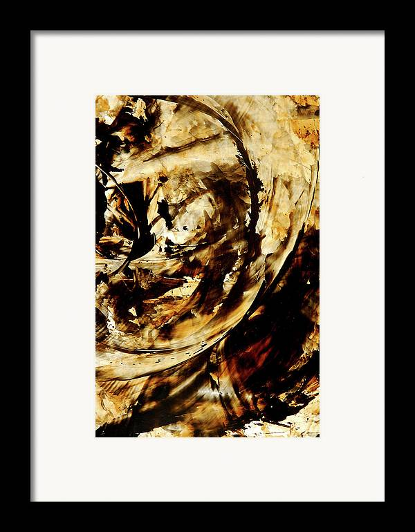 Brown Framed Print featuring the painting Double Espresso by Sharon Cummings