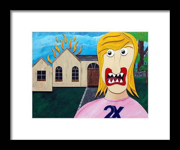 Married Twice-failed Twice Framed Print featuring the painting Double-Ex by Sal Marino